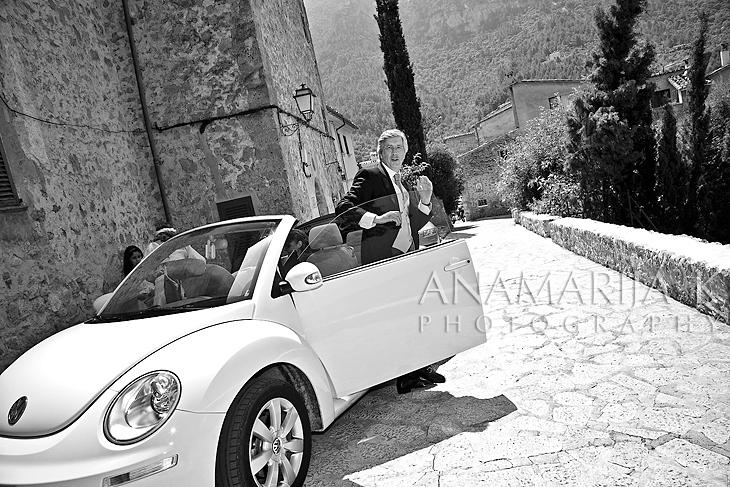 llegada de la novia con su padre