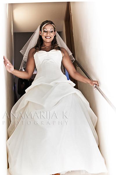 la novia está radiante