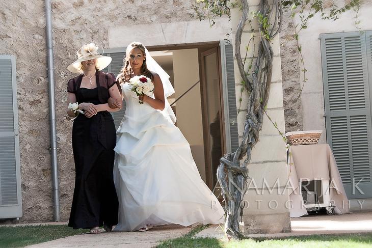 la novia con su mamá
