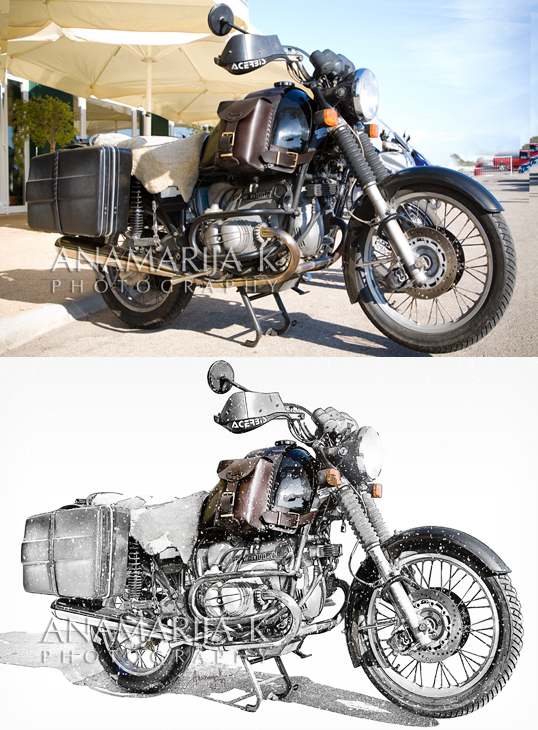 BMW - retoque para calendario - antes y después