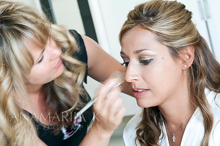 a make-up artist at work