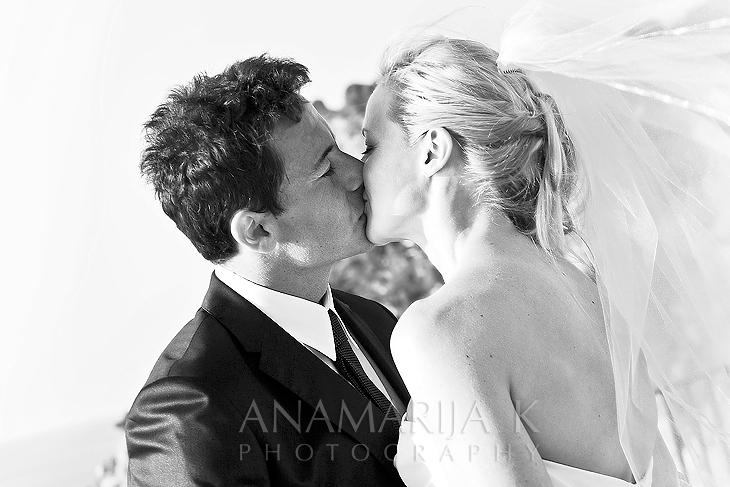 a wedding kiss