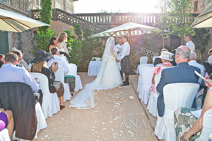 the ceremony in the open air