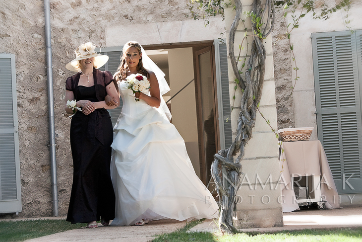 the bride with her mom