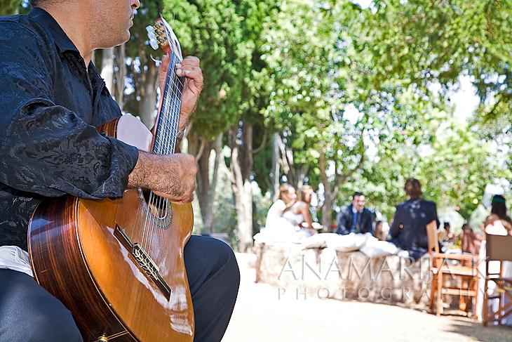 a spanish guitar player