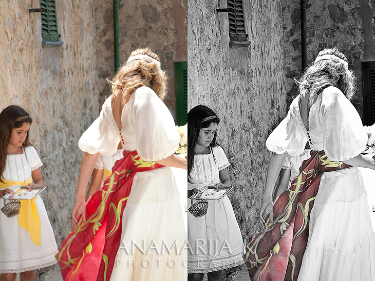 wedding photography - before and after