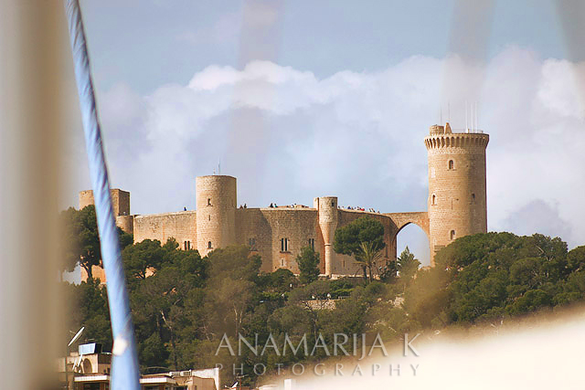Bellver Castle from the Club Náutico, Palma de Mallorca - Asociación Hotelera de Palma