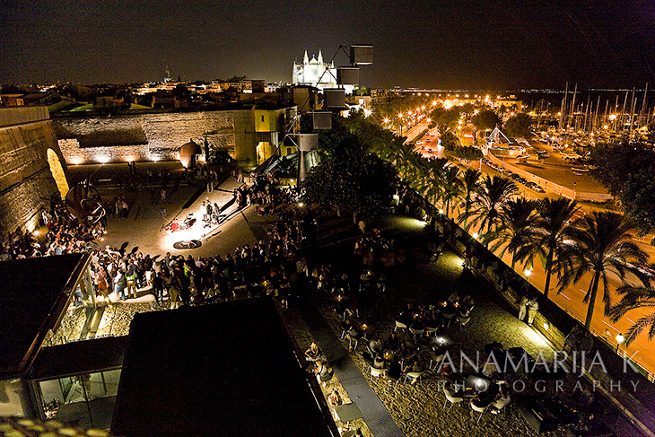 Night of Art, a view to Paseo Marition - Es Baluard Museum - Palma de Mallorca