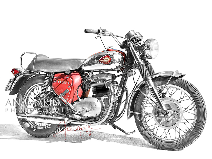 BSA - commissioned, retouched in pencil style