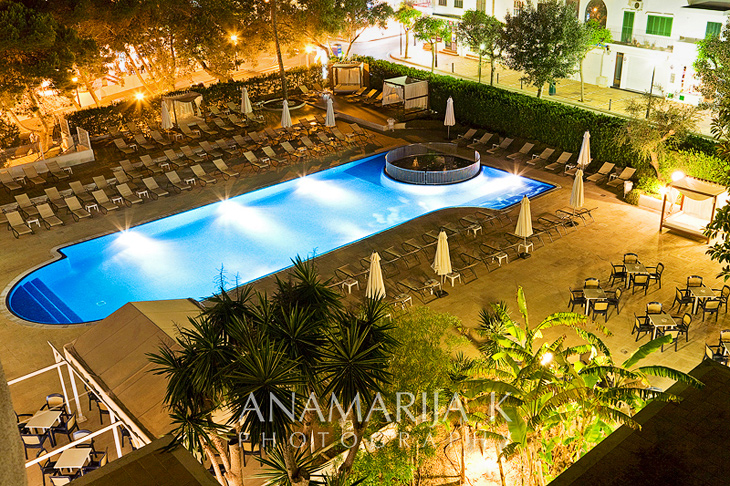 night view, Gran Hotel D'Or Tucan, Cala D'Or, Mallorca